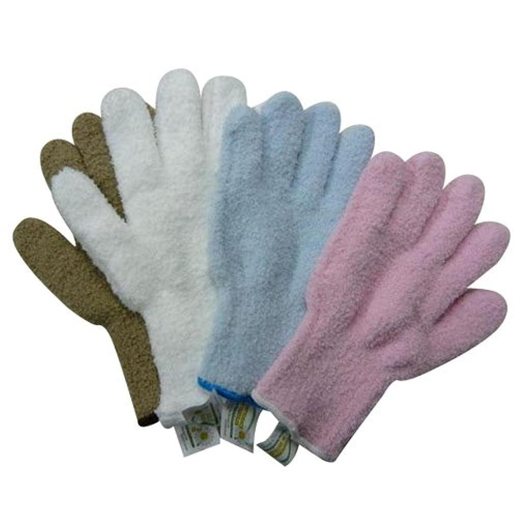 そんなにリズムうねるウルトラ?マイクロファイバー手袋 エコテックスタグ付き×4色セット(KE702-WH?SB?BE?PK) 5007an