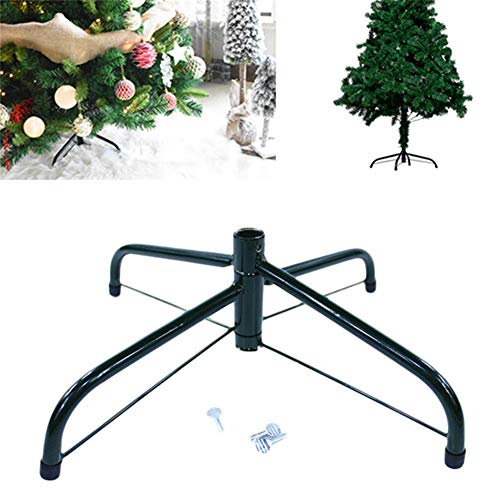 knowledgi Künstlicher Christbaumständer für 3 bis 6-Fuß-Bäume Klappbarer Christbaumständer aus Metall,künstlicher Christbaumständer