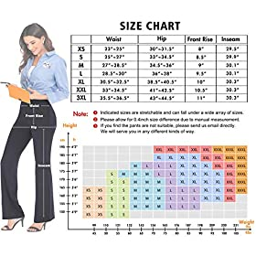 IUGA Bootcut Yoga Pants with Pockets for Women High Waist Workout Bootleg Pants Tummy Control, 4 Pockets Work Pants for Women