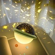 LUEROD Kleurrijke sterrenprojectorlichten romantische sfeerlamp USB opladen Galaxy projectorlicht voor kinderen volwassene...