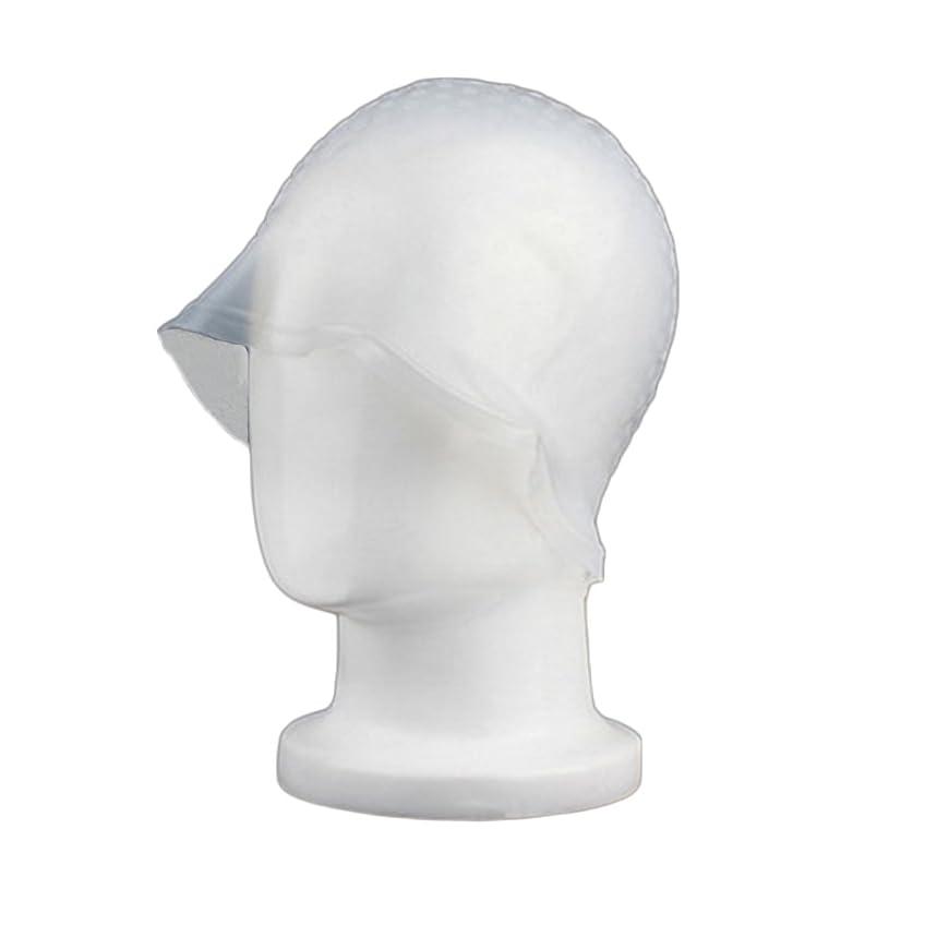 臭い加入毒液Zafina 毛染め用 キャップ 再利用可能 染め専用 ボンネット ヘアカラー (透明)