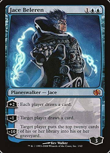 Jace Beleren Mythic Rare Foil Duel Decks: Jace vs. Chandra Planeswalker Magic: The Gathering Trading Card - Englisch - Cardicuno