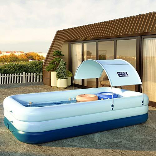 Aufblasbarer überdachter Pool, Sprengbecken für Familien, Ocean Ball Pool für Kinder, geeignet für den Garten im Freien (Size : 260X160X68cm)