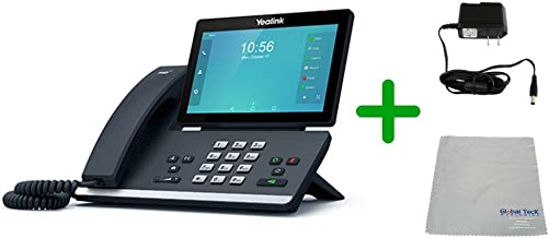 $442 » Global Teck Bundle of Yealink SIP-T58A IP VoIP Phone | Multi-Media Video Collaboration, Power Supply with Microfiber Cloth