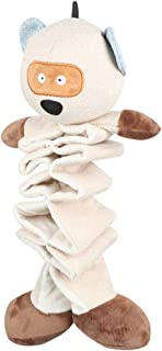 POPETPOP Dog Toys Crinkle Interactive Dog Toys Stuffed Animal with Plush Feet and Waterproof Layer Plush Dog Toy Puppy Tee...