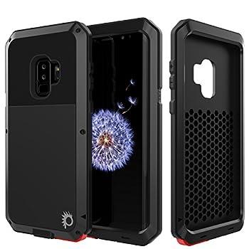 PunkCase Galaxy S9 Plus Metal Case Heavy Duty Military Grade Armor Cover [Shock Proof] Hybrid Full Body Hard Aluminum & TPU Design [Non Slip] W/Drop Protection for Samsung Galaxy S9+ [Black]
