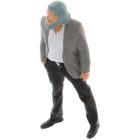 Perfeclan 1/64 人間 人形 人物 人間フィギュア塗装人 ミニチュア 箱庭 装飾 鉄道模型 建物模型 ジオラマ 教育 DIY (教授)