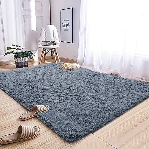 Delxo Ultra Soft Fluffy Area Rugs, Luxury Shag Rug Faux Fur Non-Slip Floor Carpet, 4 x 6 Feet Indoor Shaggy...