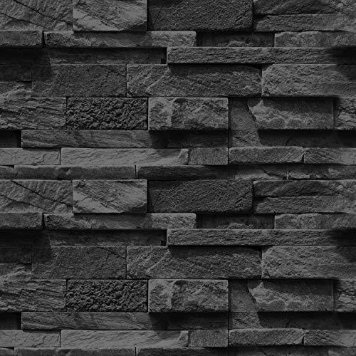 murando - Fototapete selbstklebend 10m 3D Tapete Wandtattoo dekorative Möbelfolie Dekorfolie Fotofolie Wandaufkleber Wandposter Wandsticker - Steinoptik Steinwand f-A-0691-an-c