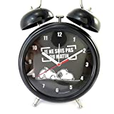 Giant Bell Alarm Clock 'Snoopy'black (I'm not a Morning Person).