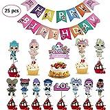 REYOK 24 Stücke LOL Cupcake Topper Geburtstag Kuchen Dekorationen mit Einem Alles Gute zum...