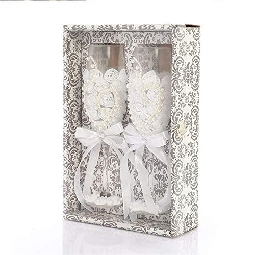GXYtable cloth 2 unids/Set Fashion Wedding Glass Fashing Toasting Wedding Globos Crystal...