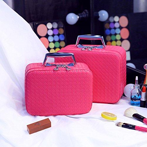 Boîte de rangement cosmétique sac cosmétique cosmétiques plein air voyage mode bain organisateur de maquillage maquillage stockage de brosse de maquillage cadeau de petite amie surprise garçons pour les filles porte-rouge à lèvres sac portable imperméable femme-O
