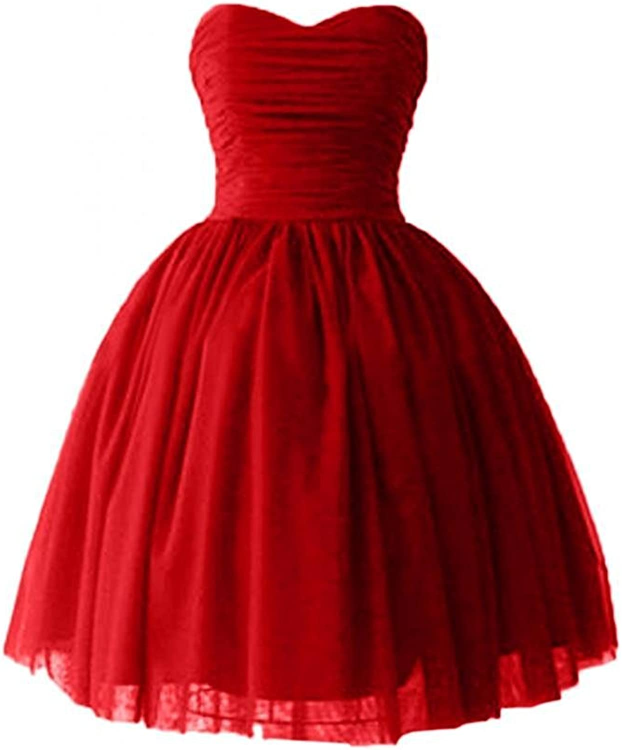Lemai Short Tulle Sweetheart Prom Dress Evening Homecoming Party Gowns