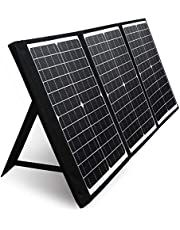 PAXCESS 60W 18V Portable Solar Panel, Off Grid Foldable Solar Charger with USB QC 3.0&Type C Output, Compatible with Paxcess/Rockpals/Jackery/Suaoki Solar Generator Power Station for Outdoor Camping