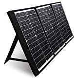 PAXCESS 60W 18V Portable Solar Panel, Off Grid Foldable Solar Charger with USB QC 3.0&Type C Output, Compatible with Rockpals/Jackery/Suaoki Solar Generator Power Station for Outdoor Camping
