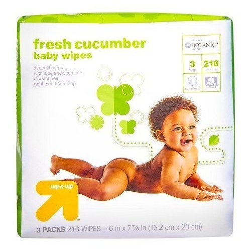 up & up Cucumber Baby Wipes, 216 Count