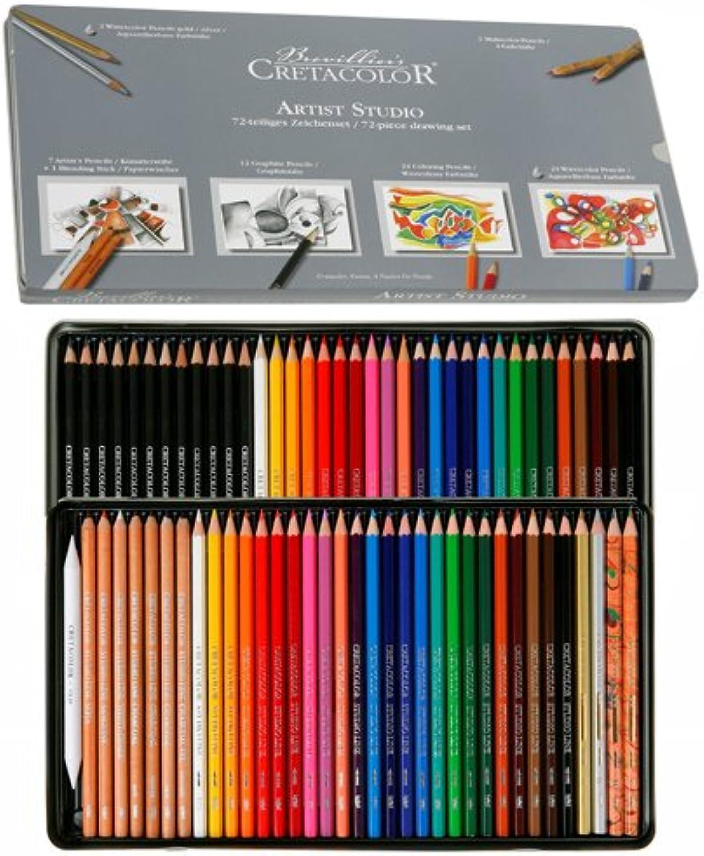 NEU CretaFarbe Studio 72 Stifte im Metalletui [Spielzeug] B00BMNY8IO | Starker Wert