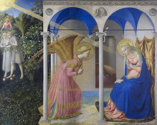 "Fra Angelico The Annunciation Museo Nacional del Prado 30"" x 24"" Fine Art Giclee Canvas Print Reproduction (Unframed)"