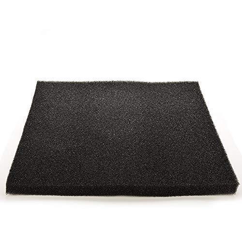 DDV-US 5050cm Black Biochemical Filtration Cotton Filter Lightweight Soft Foam Durable Sponge for Fish Tank Aquarium - (Color: Black, Size: One Size)