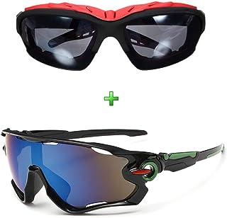 Óculos Ciclismo Corrida Preto Proteção Uv Kit 2 Unidades