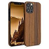 kalibri Cover Compatibile con Apple iPhone 12 PRO Max in Legno Naturale e aramide - Wooden Case Porta-Cellulare Rigida - Custodia Protettiva Ultra-Slim