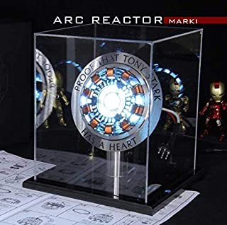 KAKALIN 1:1 Iron Man Arc Reactor MK1 DIY Parts Model Assembled Led Light Action Figures Collection Gifts Toy (with Display Box)