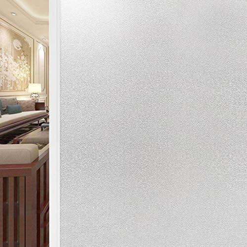SNNH Raamfolie, 3D-decoratieve bescherming tegen inkijk, glasdecoratie, anti-uv-mat, raamsticker voor badkamer, slaapkamer, statische film