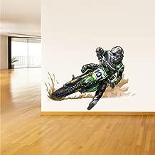 STICKERSFORLIFE Full Color Wall Decal Mural Sticker Decor Art Dirt Bike Moto Motorcycle Motocross Biker Dirty (Col297)