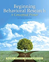 Beginning Behavioral Research: A Conceptual Primer