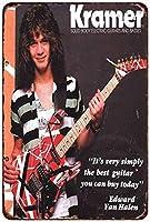 Shimaier 壁の装飾 メタルサイン Kramer Electric Guitars Edward Van Halen ウォールアート バー カフェ 縦20×横30cm ヴィンテージ風 メタルプレート ブリキ 看板