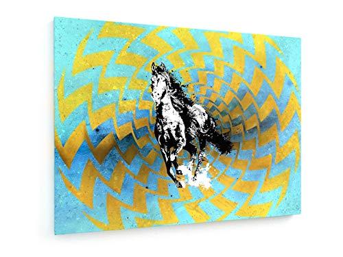 weewado Phabio Pio - Le Cheval du Major - 40x30 cm - Impression sur Toile - Art Mural - Tableau, Poster, Affiche, Décoration d'intérieur - Abstrait