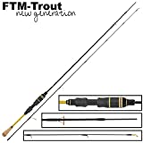 FTM Finesse Limited Ultra Light Rute 1,80m 0,8-3g - Forellenrute zum leichten Spinnangeln, Angelrute...