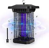 FOCHEA Lámpara Anti Mosquitos, 18W UV Mata Mosquitos Electrico Impermeable IPX4 Lampara Mata Mosquitos de Exterior y Interior Silencio para Mosquitos, Insectos, Moscas