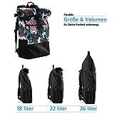 Ela Mo's Rucksack Damen | Schön und Durchdacht | für Uni Reisen Freizeit Job | mit Laptopfach & Anti Diebstahl Tasche | Blumen - 6