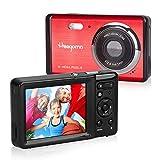 Heegomn - Cámara digital para principiantes, 12 MP/720P HD, pantalla de 2,8', zoom digital 8x, mini cámara fotográfica, para niños, adolescentes