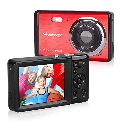"""Heegomn - Cámara Digital para Principiantes, 12 MP/720P HD, Pantalla de 2,8"""", Zoom Digital 8X, Mini cámara fotográfica, para niños, Adolescentes"""