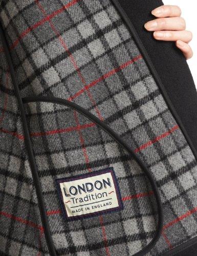 『(ロンドントラディション)LONDON TRADITION Cape/Poncho ウール製 英国ポンチョ LT-005 Black Black M/L』の2枚目の画像