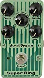 Aural Dream Super Ring Guitar Effect Pedal includes 6 modulation waveforms through adjusting rotary rate and fluctuating depth to simulate Tubular Bell,Chime and Bells