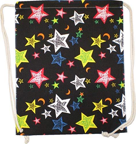 Sacs Sac à dos homme sac Hipster pour femme Noir Sac de gym Toile Marin Sac pochette en tissu enfant Sac Gym – étoiles 4730