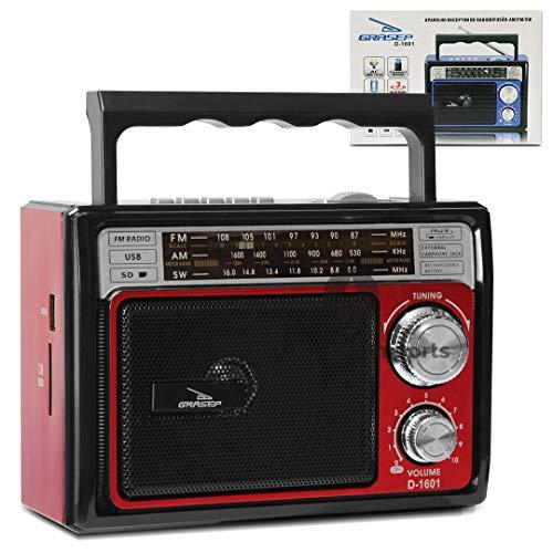 Radio de Som Retro D-1601 (Vermelho)