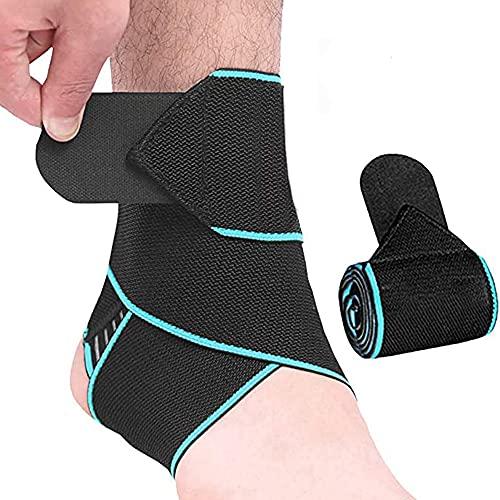 2 unids tobillo Brace Kit ajustable compresión pie Brace baloncesto fútbol deportes protección hombres mujeres tobillo Surpport Wraps