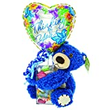 Thinking Of You Balloon Gift – Teddy Bear, Balloon, Assorted Candy in Acrylic Case | Cheer Up a Friend or Loved One with this Gift