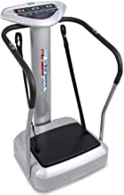 Upgraded Standing Vibration Platform Machine - Full Body Fitness Exercise Trainer, Crazy Fit Massager w/ 3 LED Screen, 2 Resistance Bands, BMI Sensor, and Adjustable Speed Level - Hurtle