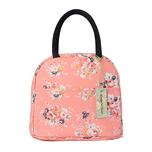 wonderful flower Insulated Lunch Box Cooler Bag lunch bag flower (015 Peach)