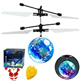 AMENON Flying Ball RC Toys for Kids, Hand Controlled Mini Drones Light-Up Flying Toy Helicopter with Rechargeable Remote Controller Quadcopter Novelty Toys Holiday for Kids Boys