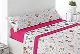 Energy Colors Textil Hogar - Junior - Cama 90 Juego Sábanas 3 Piezas 50% Algodón y Otras Fibras (Safari Pinj)