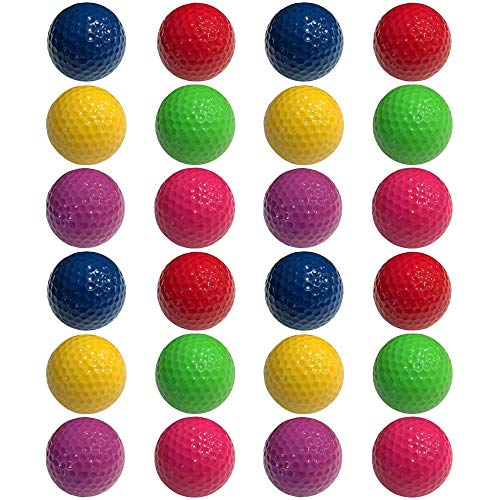 Infusion Miniature Golf Balls - Colored Mini Golf Balls - 24 Pack, Red, Yellow, Blue, Purple, Green, Pink Color Balls (4 Each)