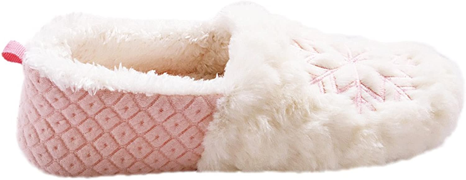 Indoor Plush Soft Sole shoes snowflake Warm House Slippers