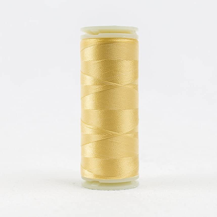 WonderFil, Specialty Threads, InvisaFil, 2-Ply Cottonized Soft Polyester, Silk-Like Thread for Fine Sewing, 100wt - Soft Gold, 400m